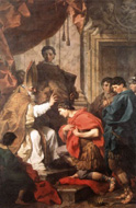 Saint Ambrose convertissant Theodose